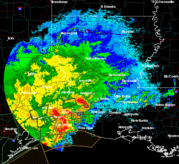 Radar Image for Severe Thunderstorms near Oberlin, LA at 5/10/2019 1:24 AM CDT