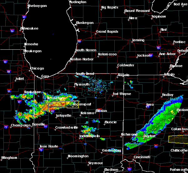Radar Image for Severe Thunderstorms near Monon, IN at 6/12/2015 4:45 PM EDT