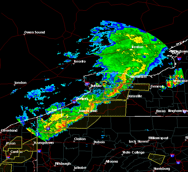 Radar Image for Severe Thunderstorms near Shortsville, NY at 6/12/2015 4:46 PM EDT