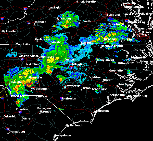 Radar Image for Severe Thunderstorms near Ansonville, NC at 5/11/2019 4:54 PM EDT