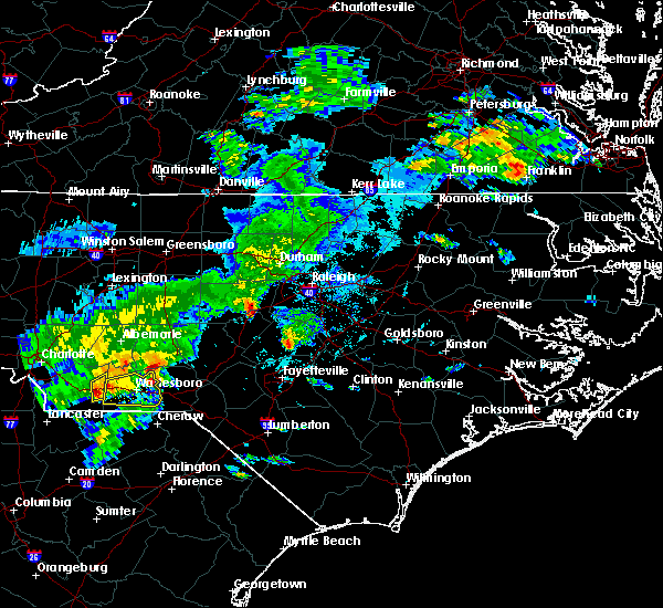 Radar Image for Severe Thunderstorms near Ansonville, NC at 5/11/2019 5:29 PM EDT