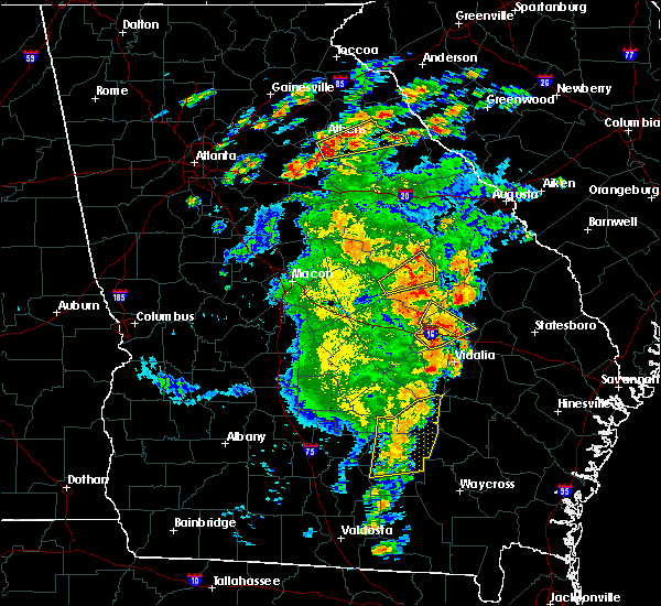 Radar Image for Severe Thunderstorms near Adrian, GA at 5/11/2019 5:44 PM EDT