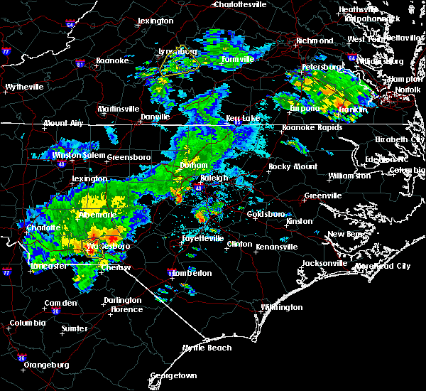 Radar Image for Severe Thunderstorms near Ansonville, NC at 5/11/2019 5:52 PM EDT
