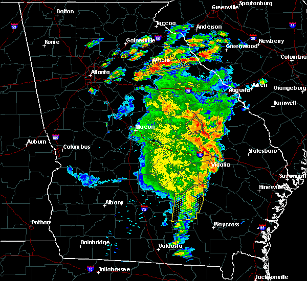 Radar Image for Severe Thunderstorms near Tennille, GA at 5/11/2019 5:56 PM EDT