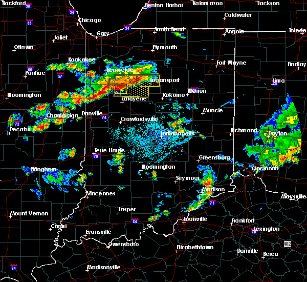 Radar Image for Severe Thunderstorms near Otterbein, IN at 6/12/2015 4:52 PM EDT