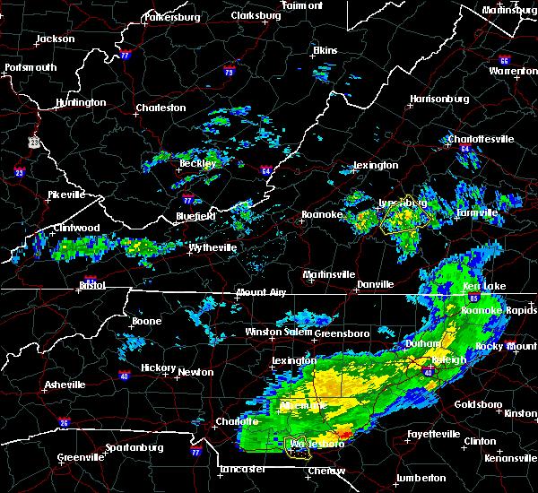 Radar Image for Severe Thunderstorms near Pamplin City, VA at 5/11/2019 6:23 PM EDT