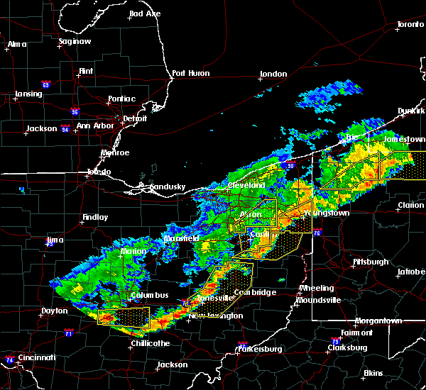Radar Image for Severe Thunderstorms near Plainfield, OH at 6/12/2015 4:52 PM EDT