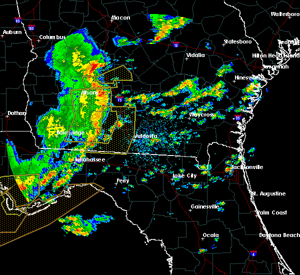 Radar Image for Severe Thunderstorms near Moultrie, GA at 5/12/2019 1:55 PM EDT