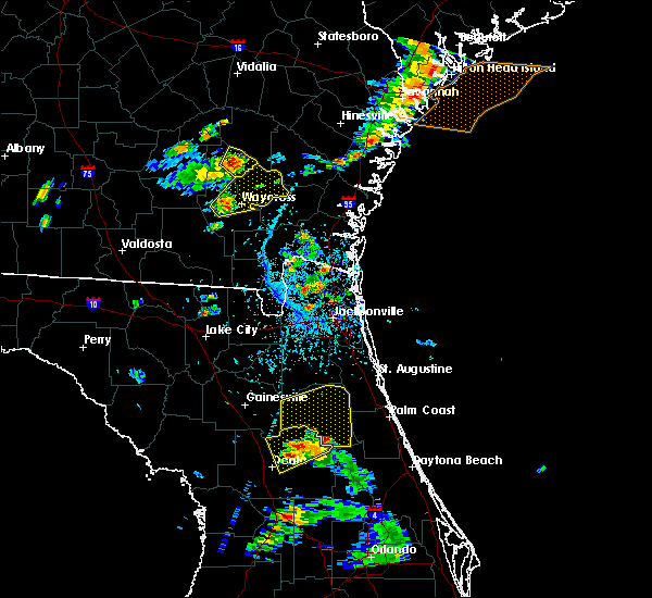 Radar Image for Severe Thunderstorms near Welaka, FL at 6/12/2015 4:58 PM EDT