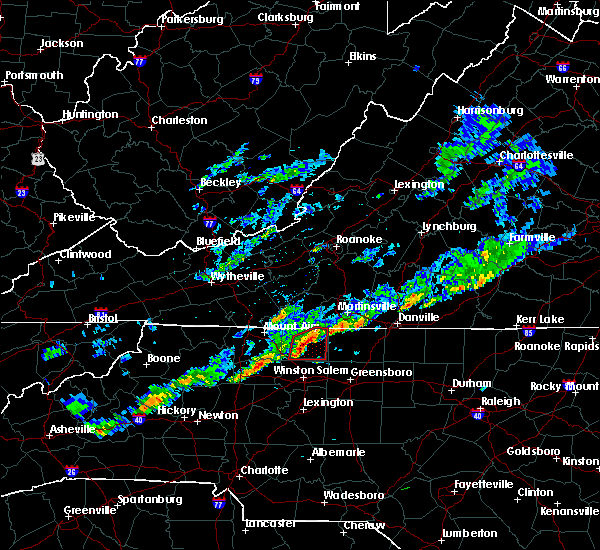 Radar Image for Severe Thunderstorms near King, NC at 5/12/2019 6:52 PM EDT