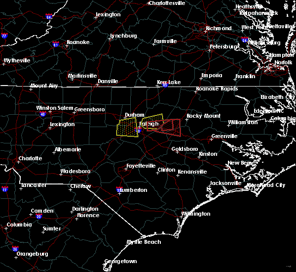 Radar Image for Severe Thunderstorms near Wilson, NC at 5/13/2019 10:25 AM EDT