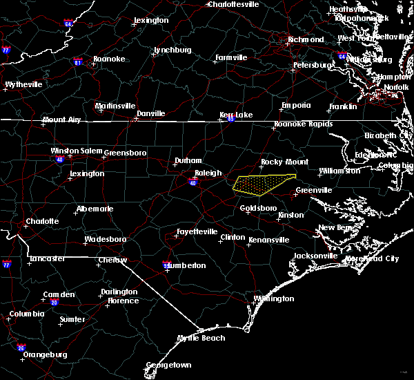 Radar Image for Severe Thunderstorms near Pinetops, NC at 5/13/2019 11:34 AM EDT