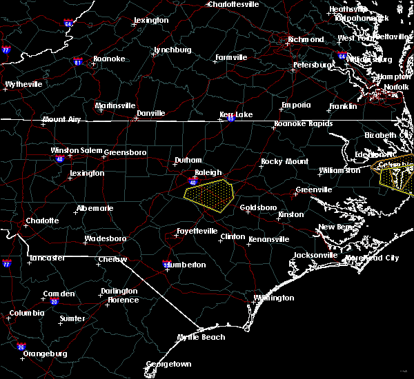 Radar Image for Severe Thunderstorms near Smithfield, NC at 5/13/2019 1:38 PM EDT