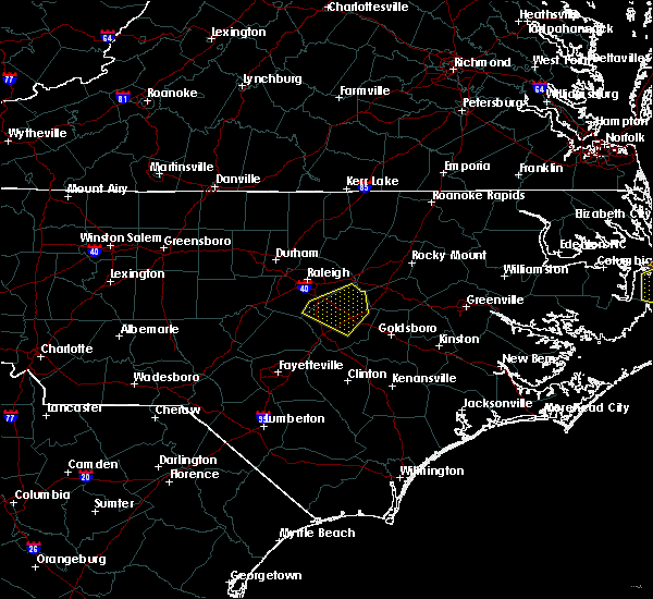 Radar Image for Severe Thunderstorms near Smithfield, NC at 5/13/2019 1:58 PM EDT