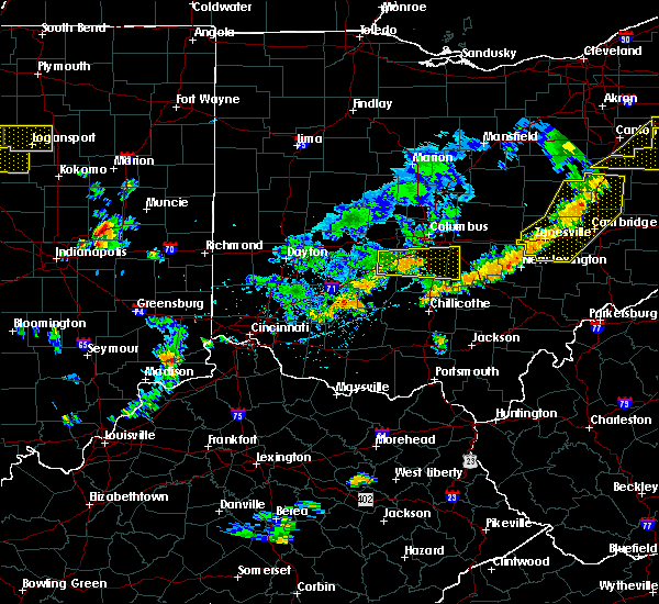 Radar Image for Severe Thunderstorms near Obetz, OH at 6/12/2015 5:03 PM EDT
