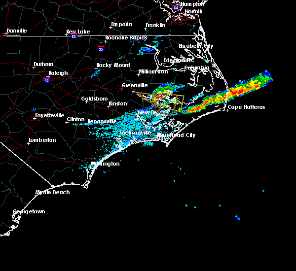 Radar Image for Severe Thunderstorms near Bayview, NC at 5/13/2019 4:10 PM EDT