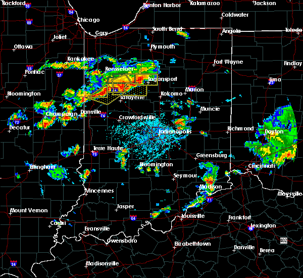 Radar Image for Severe Thunderstorms near Otterbein, IN at 6/12/2015 5:05 PM EDT