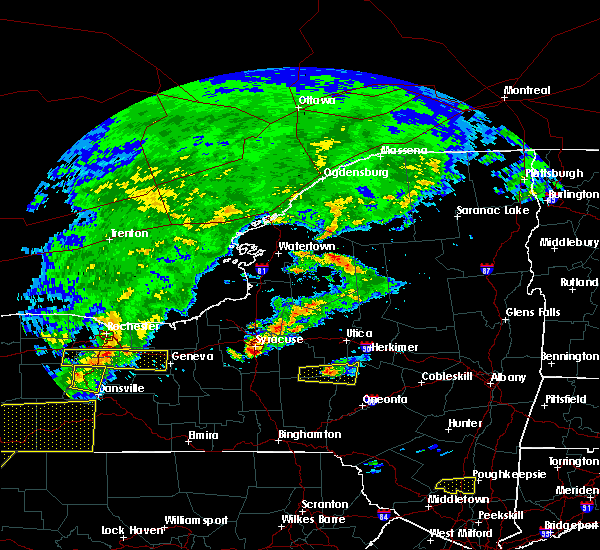 Radar Image for Severe Thunderstorms near Cazenovia, NY at 6/12/2015 5:09 PM EDT
