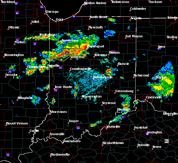Radar Image for Severe Thunderstorms near Camden, IN at 6/12/2015 5:12 PM EDT