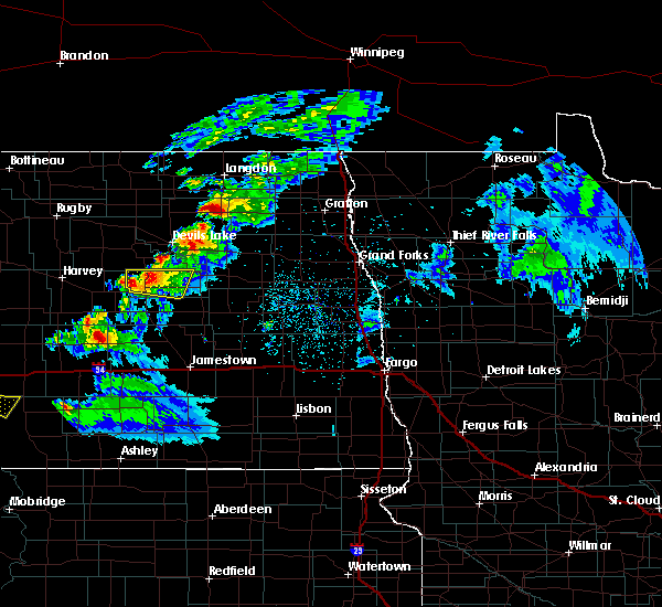 Radar Image for Severe Thunderstorms near New Rockford, ND at 5/15/2019 6:45 PM CDT