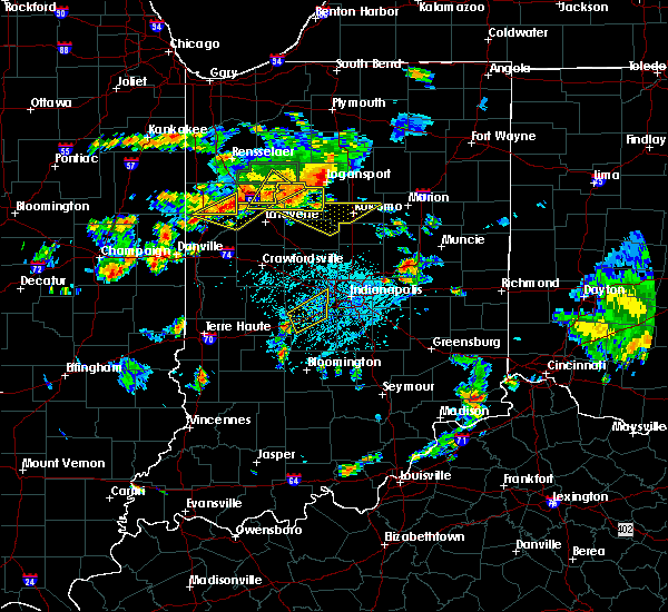 Radar Image for Severe Thunderstorms near Clayton, IN at 6/12/2015 5:15 PM EDT