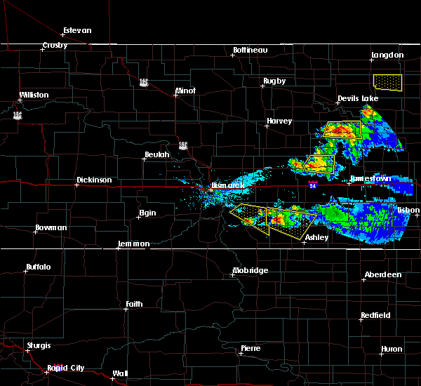Radar Image for Severe Thunderstorms near Woodworth, ND at 5/15/2019 7:18 PM CDT