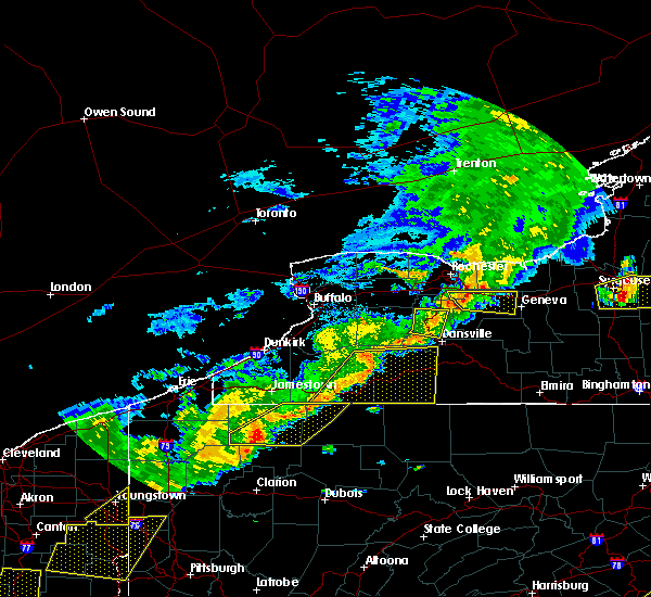 Radar Image for Severe Thunderstorms near Salamanca, NY at 6/12/2015 5:16 PM EDT