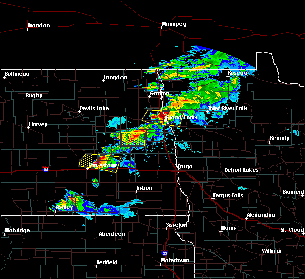 Radar Image for Severe Thunderstorms near Sharon, ND at 5/15/2019 8:32 PM CDT