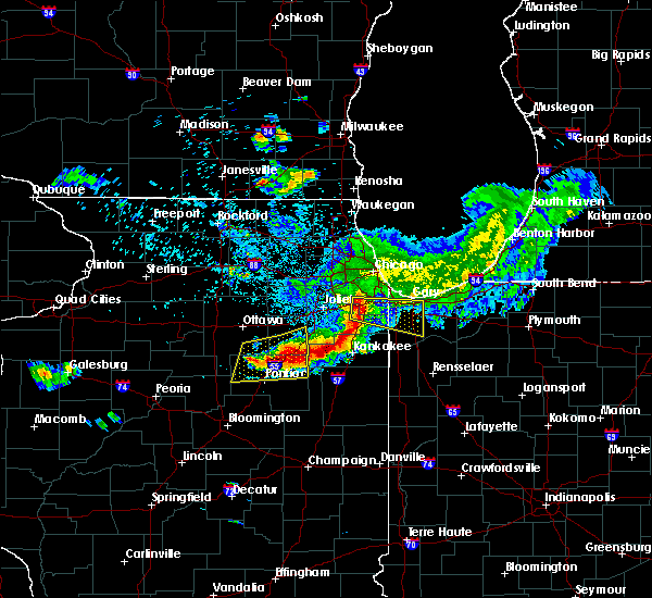 Radar Image for Severe Thunderstorms near Chicago Heights, IL at 5/16/2019 1:15 PM CDT