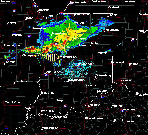 Radar Image for Severe Thunderstorms near Crawfordsville, IN at 5/16/2019 4:06 PM EDT