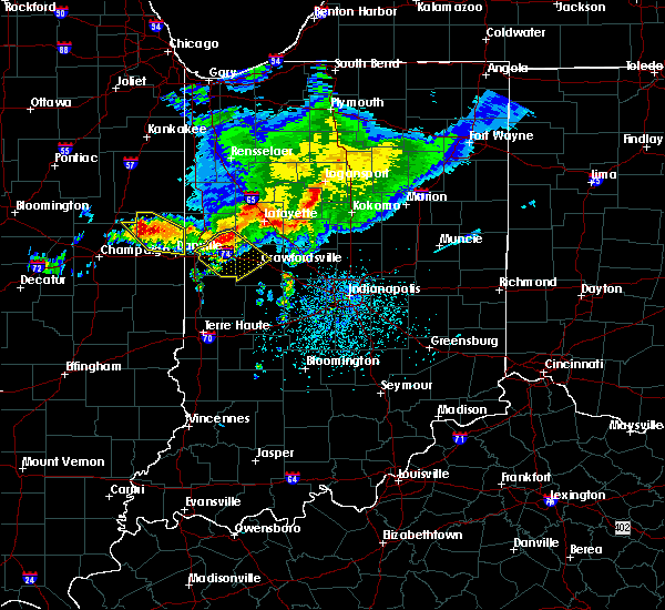 Radar Image for Severe Thunderstorms near Crawfordsville, IN at 5/16/2019 4:24 PM EDT