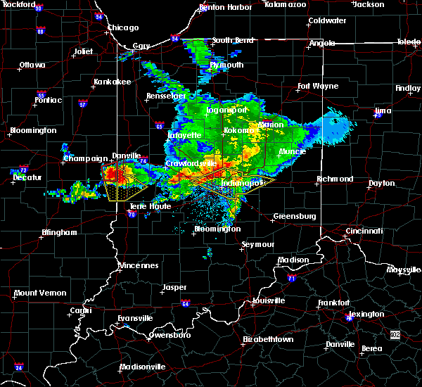 Radar Image for Severe Thunderstorms near Greenfield, IN at 5/16/2019 5:18 PM EDT