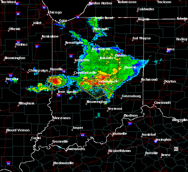 Radar Image for Severe Thunderstorms near St. Bernice, IN at 5/16/2019 4:36 PM CDT