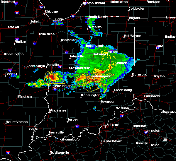 Radar Image for Severe Thunderstorms near Fairland, IN at 5/16/2019 5:44 PM EDT