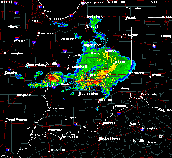 Radar Image for Severe Thunderstorms near Carthage, IN at 5/16/2019 5:57 PM EDT