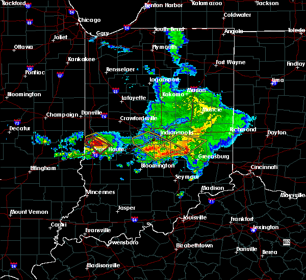 Radar Image for Severe Thunderstorms near Hope, IN at 5/16/2019 6:11 PM EDT