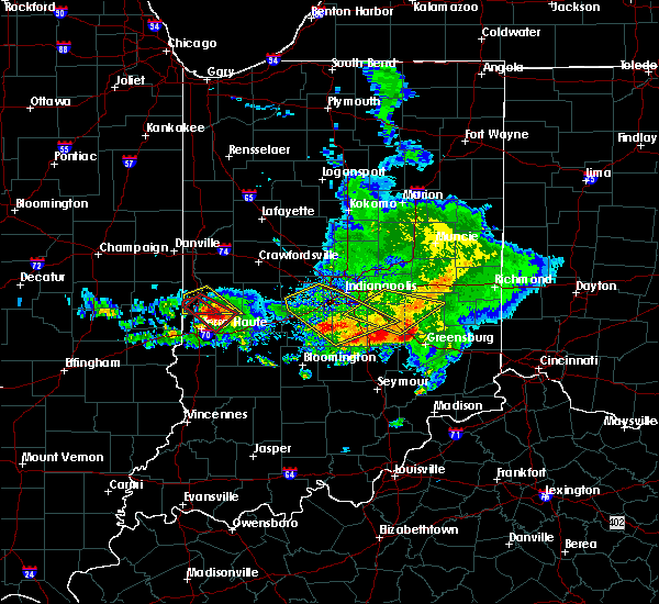 Radar Image for Severe Thunderstorms near Mecca, IN at 5/16/2019 6:16 PM EDT