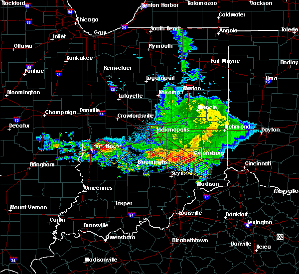 Radar Image for Severe Thunderstorms near Versailles, IN at 5/16/2019 6:33 PM EDT