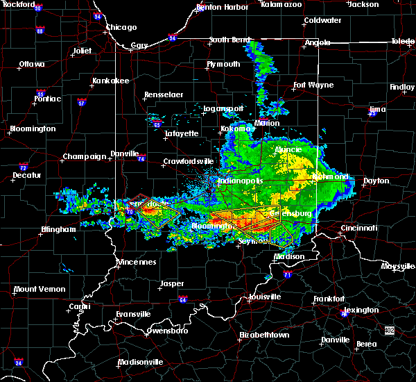 Radar Image for Severe Thunderstorms near Versailles, IN at 5/16/2019 6:44 PM EDT