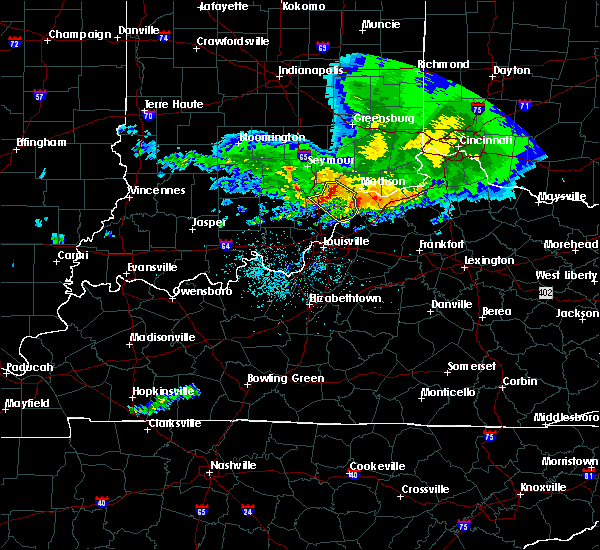 Radar Image for Severe Thunderstorms near Deputy, IN at 5/16/2019 7:49 PM EDT
