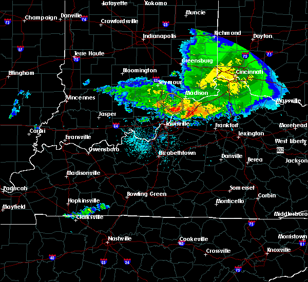 Radar Image for Severe Thunderstorms near Hanover, IN at 5/16/2019 8:11 PM EDT