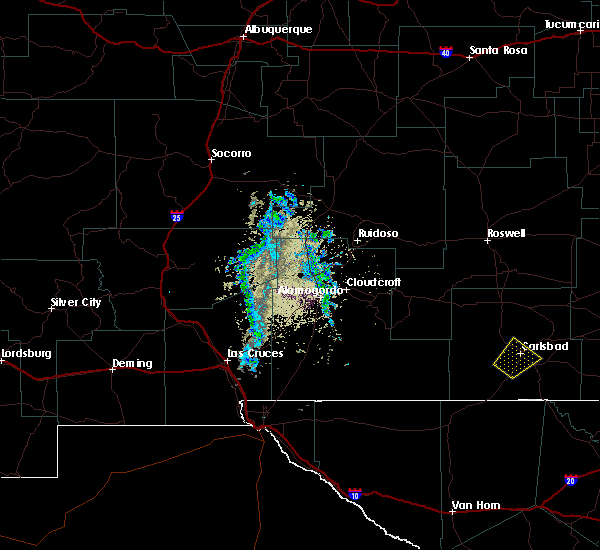 Radar Image for Severe Thunderstorms near Livingston Wheeler, NM at 5/16/2019 6:47 PM MDT