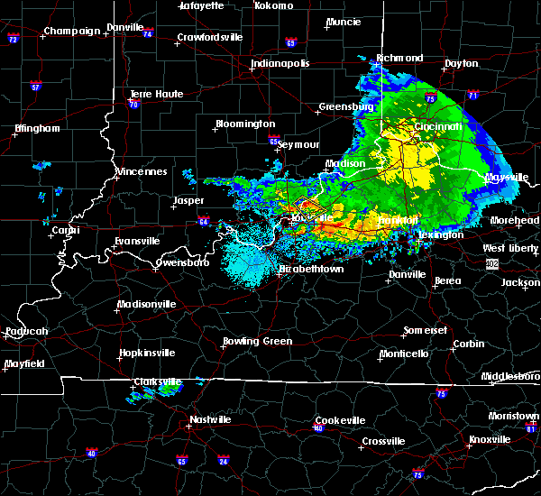 Radar Image for Severe Thunderstorms near Utica, KY at 5/16/2019 8:51 PM EDT