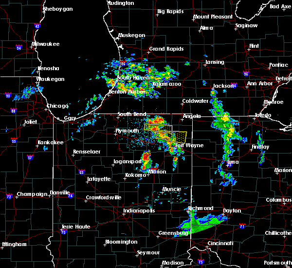 Radar Image for Severe Thunderstorms near Harlan, IN at 5/16/2019 8:57 PM EDT