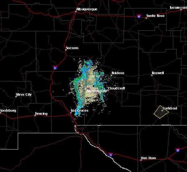 Radar Image for Severe Thunderstorms near Livingston Wheeler, NM at 5/16/2019 6:58 PM MDT