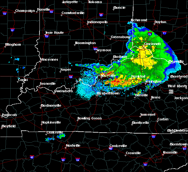 Radar Image for Severe Thunderstorms near Worthington Hills, KY at 5/16/2019 9:05 PM EDT