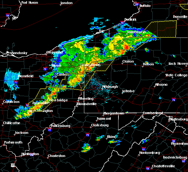 Radar Image for Severe Thunderstorms near New Wilmington, PA at 6/12/2015 5:26 PM EDT