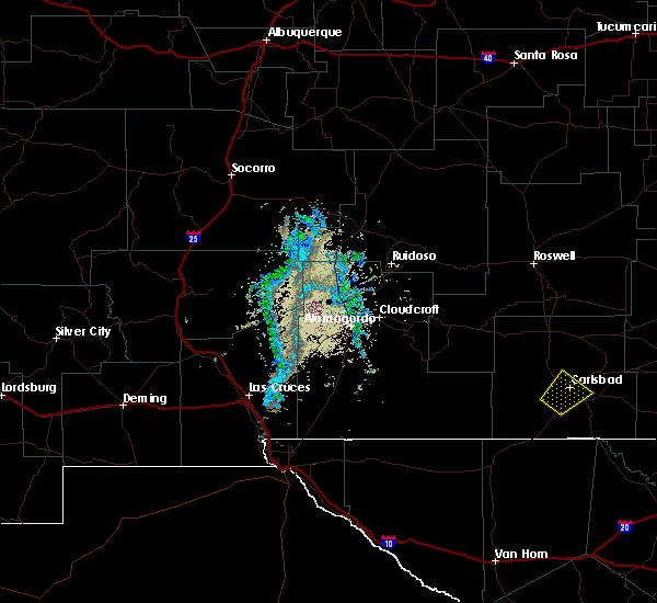 Radar Image for Severe Thunderstorms near Livingston Wheeler, NM at 5/16/2019 7:10 PM MDT