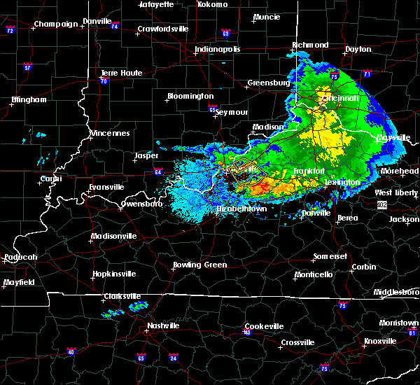 Radar Image for Severe Thunderstorms near Bellewood, KY at 5/16/2019 9:12 PM EDT