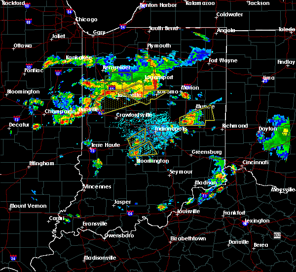Radar Image for Severe Thunderstorms near Stockwell, IN at 6/12/2015 5:30 PM EDT
